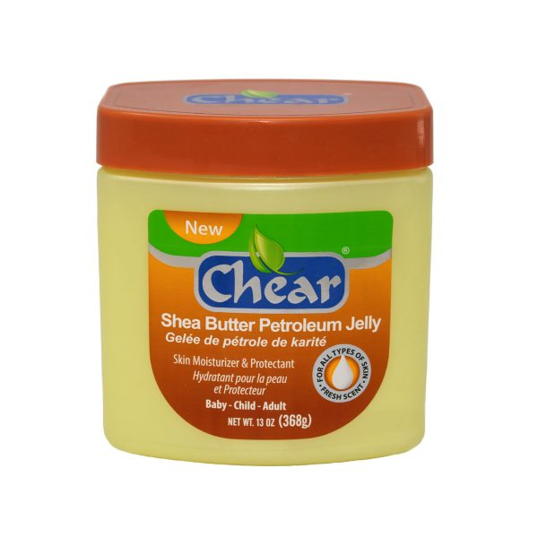 Chear Shea Butter Petroleum Jelly Skin Moisturiser & Protectant for dry skin and lips, ideal for nappy rash and soothing the skin.