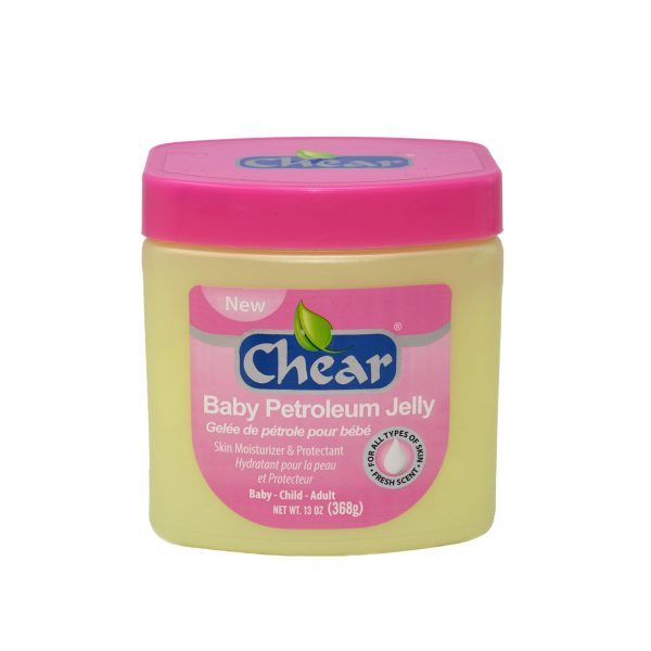 Chear Baby Petroleum Jelly Skin Moisturiser & Protectant ideal for soothing the skin, help treating nappy rash, and soothing minor scrapes and burns.
