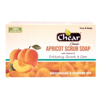 Chear Classic Apricot Scrub Face & Body Exfoliating Cleansing Soap