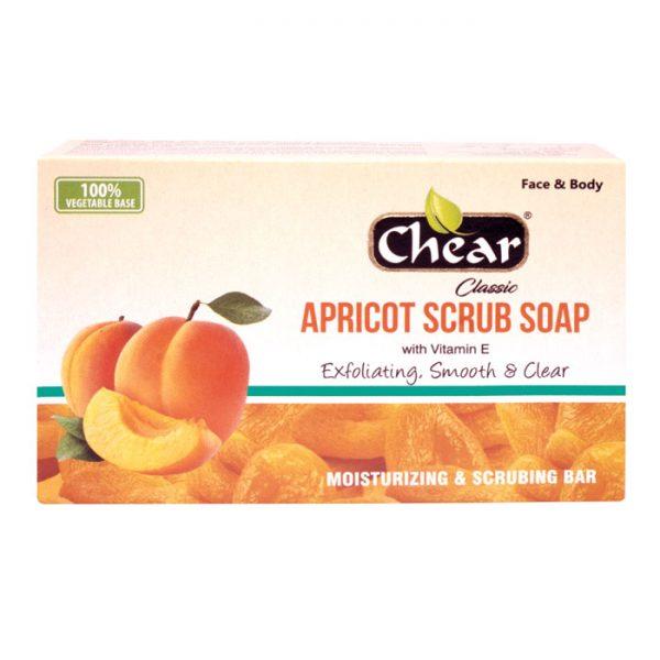 Chear Classic Apricot Scrub Face & Body Exfoliating Cleansing Soap