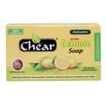 Chear Extra Lemon Antiseptic Face & Body Soap with Triclosan, Vitamin E & Allantoin gently cleanses and tones skin