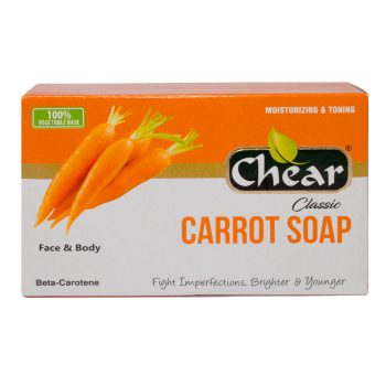 Chear Carrot Face & Body Soap is rich in beta-carotene, cleanse & moisturise the skin