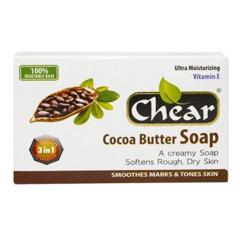 Chear Creamy Cocoa Butter Face & Body Soap is a rich lathering moisturising cream soap