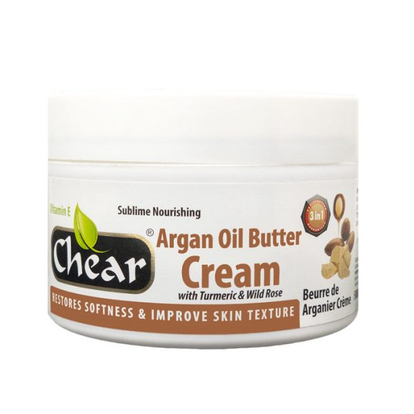 Chear Argan Oil Butter Cream with Turmeric & Wild Rose For Hands, body & Skin