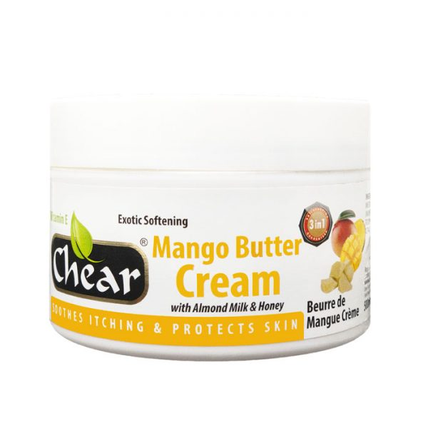 Chear Mango Butter Cream with Almond Milk & Honey For Hands & Skin